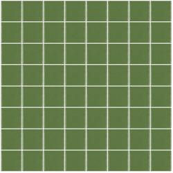 Mosaïque Unicolor carré 3,8x3,8cm vert australien 221 mat ou brillant ou antidérapant sur trame nylon 32x32cm
