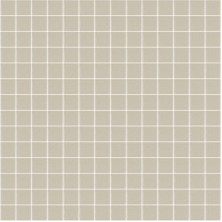 Mosaïque Unicolor 2,3x2,3cm greige 325 mat ou brillant ou antidérapant sur trame nylon 33,3x33,3cm