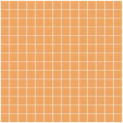 Mosaïque Unicolor 2,3x2,3cm orange pastel 326 mat ou brillant ou antidérapant sur trame nylon 33,3x33,3cm