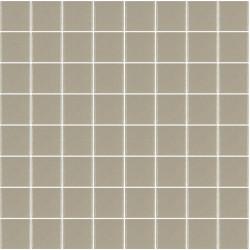 Mosaïque Unicolor carré 3,8x3,8cm greige 327 mat ou brillant ou antidérapant sur trame nylon 32x32cm