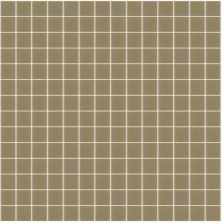 Mosaïque Unicolor 2,3x2,3cm marron pâle 328 mat ou brillant ou antidérapant sur trame nylon 33,3x33,3cm