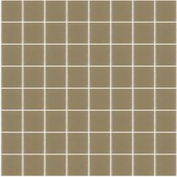Mosaïque Unicolor carré 3,8x3,8cm Marron pâle 328 mat ou brillant ou antidérapant sur trame nylon 32x32cm