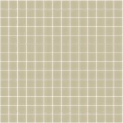 Mosaïque Unicolor 2,3x2,3cm Amande 329 mat ou brillant ou antidérapant sur trame nylon 33,3x33,3cm