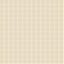 Mosaïque Unicolor 2,3x2,3cm Beige foncé 331 mat ou brillant ou antidérapant sur trame nylon 33,3x33,3cm
