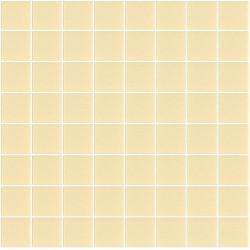 Mosaïque Unicolor carré 3,8x3,8cm 332 sable mat ou brillant ou antidérapant sur trame nylon 32x32cm