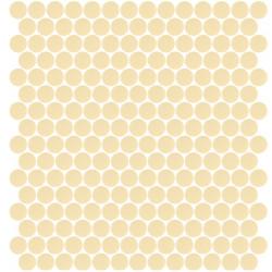 Mosaïque Unicolor ronde diamètre 2,3cm sable 332 mat ou brillant ou antidérapant sur trame nylon 33,3x33,3cm