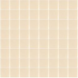 Mosaïque Unicolor carré 3,8x3,8cm 333 vanille mat ou brillant ou antidérapant sur trame nylon 32x32cm