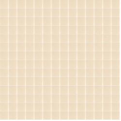 Mosaïque Unicolor 2,3x2,3cm sable 333 vanille mat ou brillant ou antidérapant sur trame nylon 33,3x33,3cm