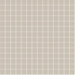 Mosaïque Unicolor 2,3x2,3cm 334 Taupe mat ou brillant ou antidérapant sur trame nylon 33,3x33,3cm
