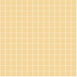 Mosaïque Unicolor 2,3x2,3cm 336 jaune moutarde mat ou brillant ou antidérapant sur trame nylon 33,3x33,3cm