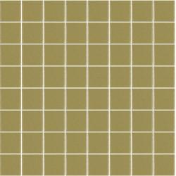 Mosaïque Unicolor carré 3,8x3,8cm 337 kaki moyen mat ou brillant ou antidérapant sur trame nylon 32x32cm