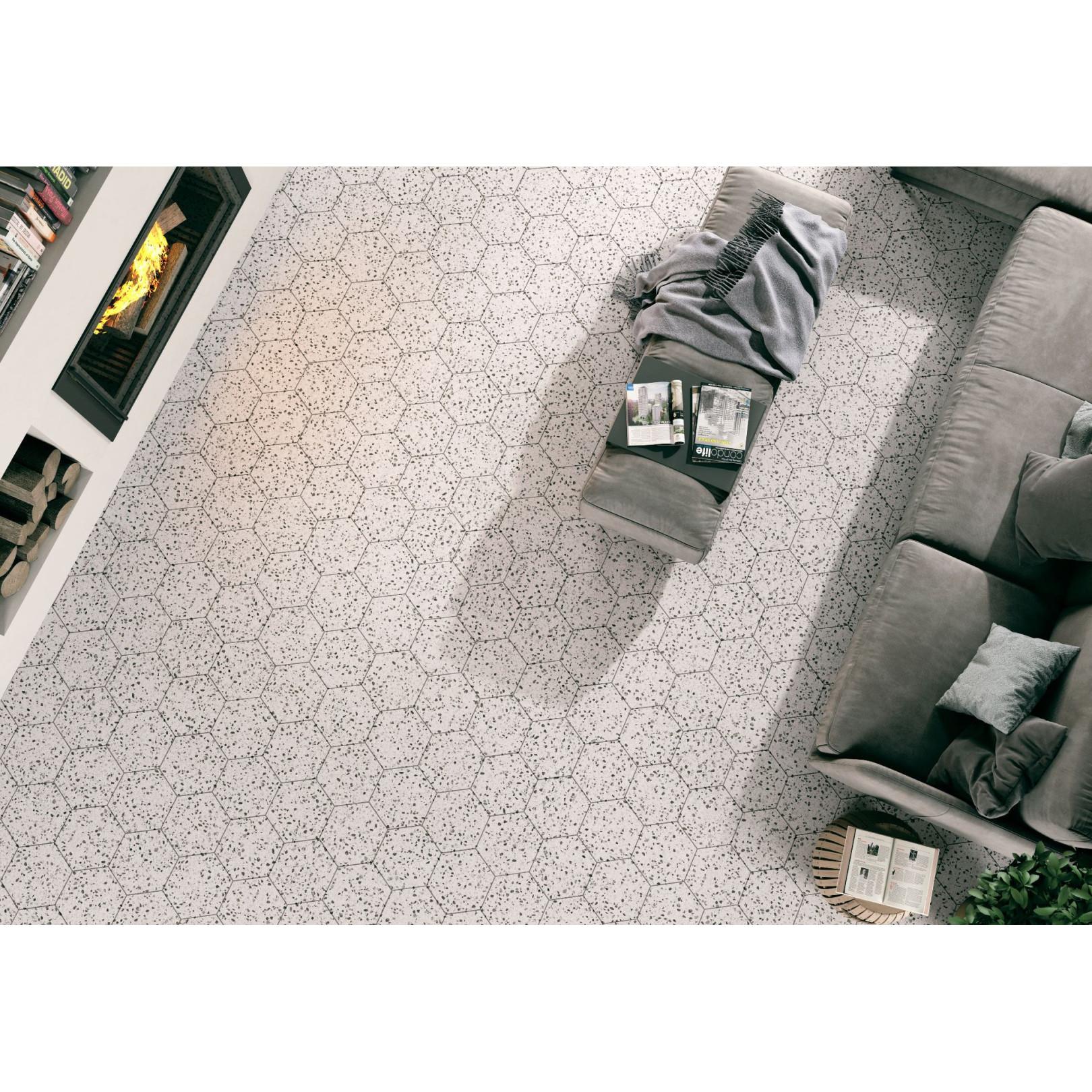 Carrelage grès cérame Hex 25 Venice hexagone 25x22cm (9 couleurs)