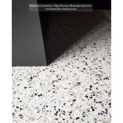 Carreau Terrazzo fond crème inclusions multicolores GV 0/25 (6 formats)