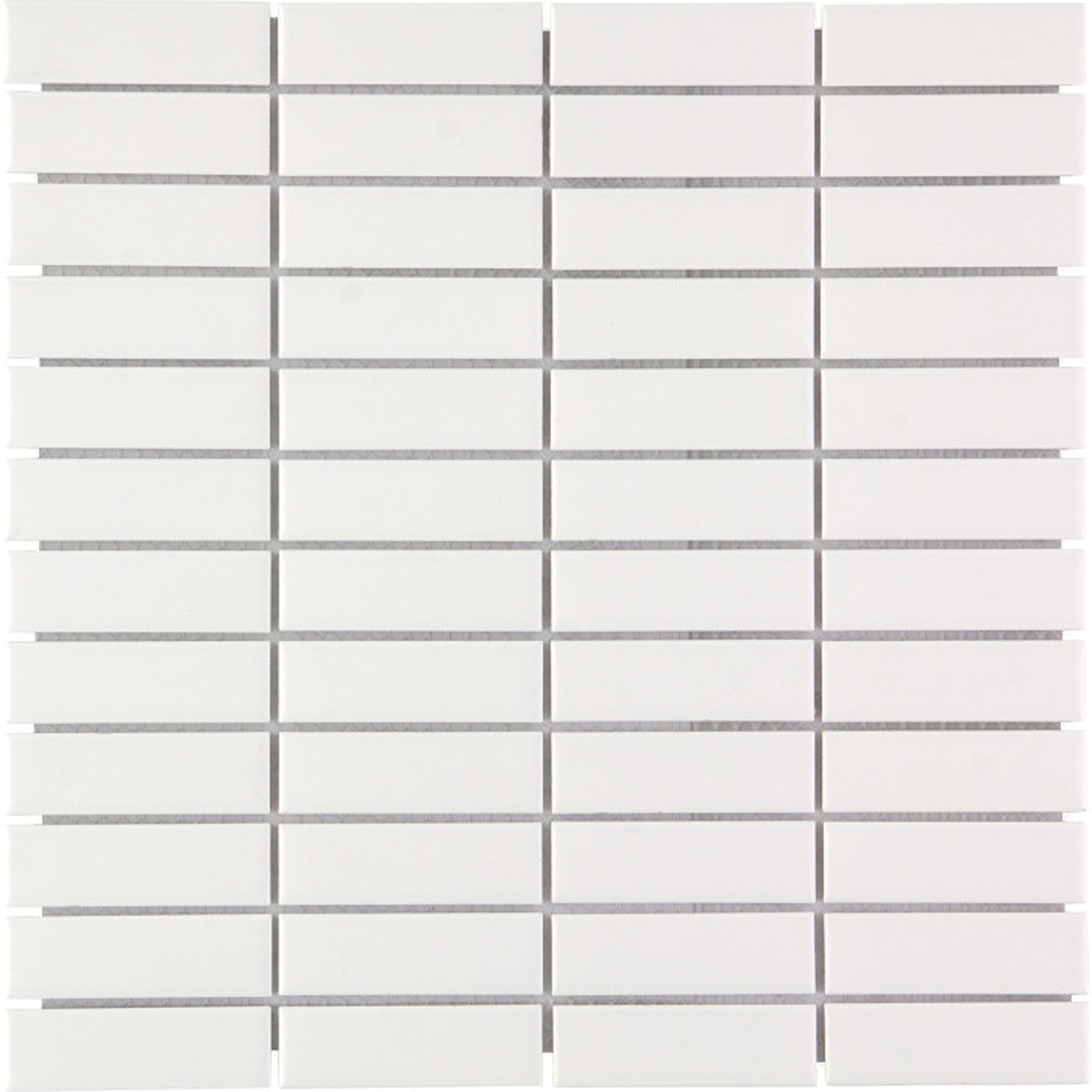 Mosaïque de grès cérame Paris rectangle 7,3x2,3cm Black brillant et mat