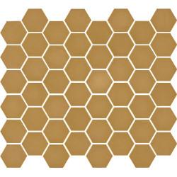 Mosaïque de grès cérame hexagone Valencia 4,9x4,3cm Mustard mat