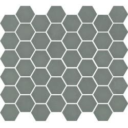 Mosaïque de grès cérame hexagone Valencia 4,9x4,3cm Khaki mat