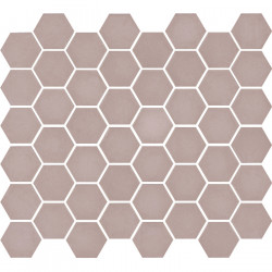 Mosaïque de grès cérame hexagone Valencia 4,9x4,3cm Pink mat