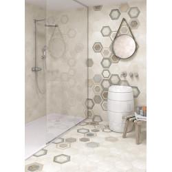 Carrelage grès cérame effet ciment Rift hexagone (4 couleurs + un décor)