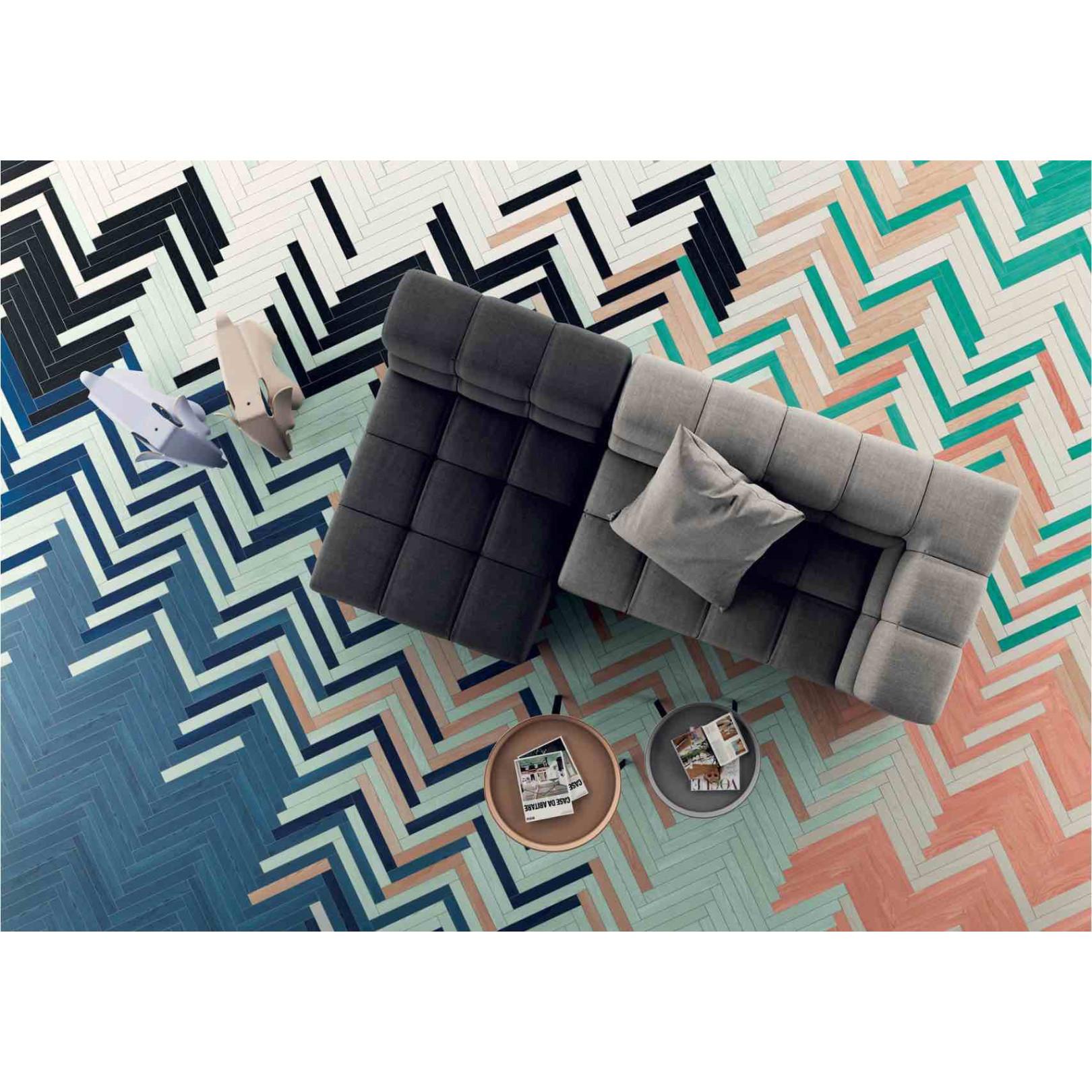 Carrelage grès cérame effet bois coloré Technicolor (18 couleurs)