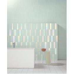 Carrelage mural faience effet graphique Biscuit 20x5cm (4 couleurs, 6 formats)
