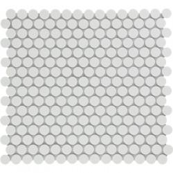 Mosaïque de grès cérame ronde diamètre 1,9cm Venice Pennyground Black mat