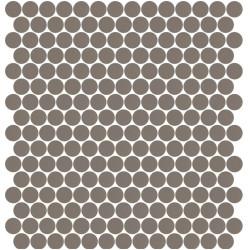Mosaïque Stone ronde Terre Cuite 562 diamètre 2,3cm sur trame nylon 33,3x33,3cm