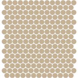 Mosaïque Stone ronde Marron clair 572 diamètre 2,3cm sur trame nylon 33,3x33,3cm