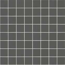 Mosaïque Stone carré 3,8x3,8cm gris moyen 564 sur trame nylon 33,3x33,3cm