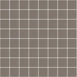 Mosaïque Stone carré 3,8x3,8cm marron pâle 563 sur trame nylon 33,3x33,3cm