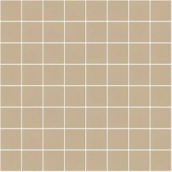Mosaïque Stone carré 3,8x3,8cm marron clair 572 sur trame nylon 33,3x33,3cm