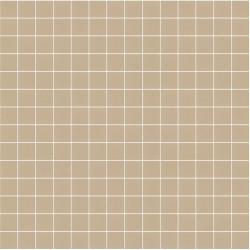 Mosaïque Stone carré 2,3x2,3cm marron clair 572 sur trame nylon 33,3x33,3cm