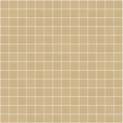 Mosaïque Stone carré 2,3x2,3cm terre moyen 571 sur trame nylon 33,3x33,3cm