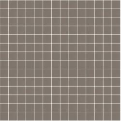 Mosaïque Stone carré 2,3x2,3cm marron pâle 563 sur trame nylon 33,3x33,3cm