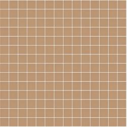 Mosaïque Stone carré 2,3x2,3cm terre cuite 562 sur trame nylon 33,3x33,3cm