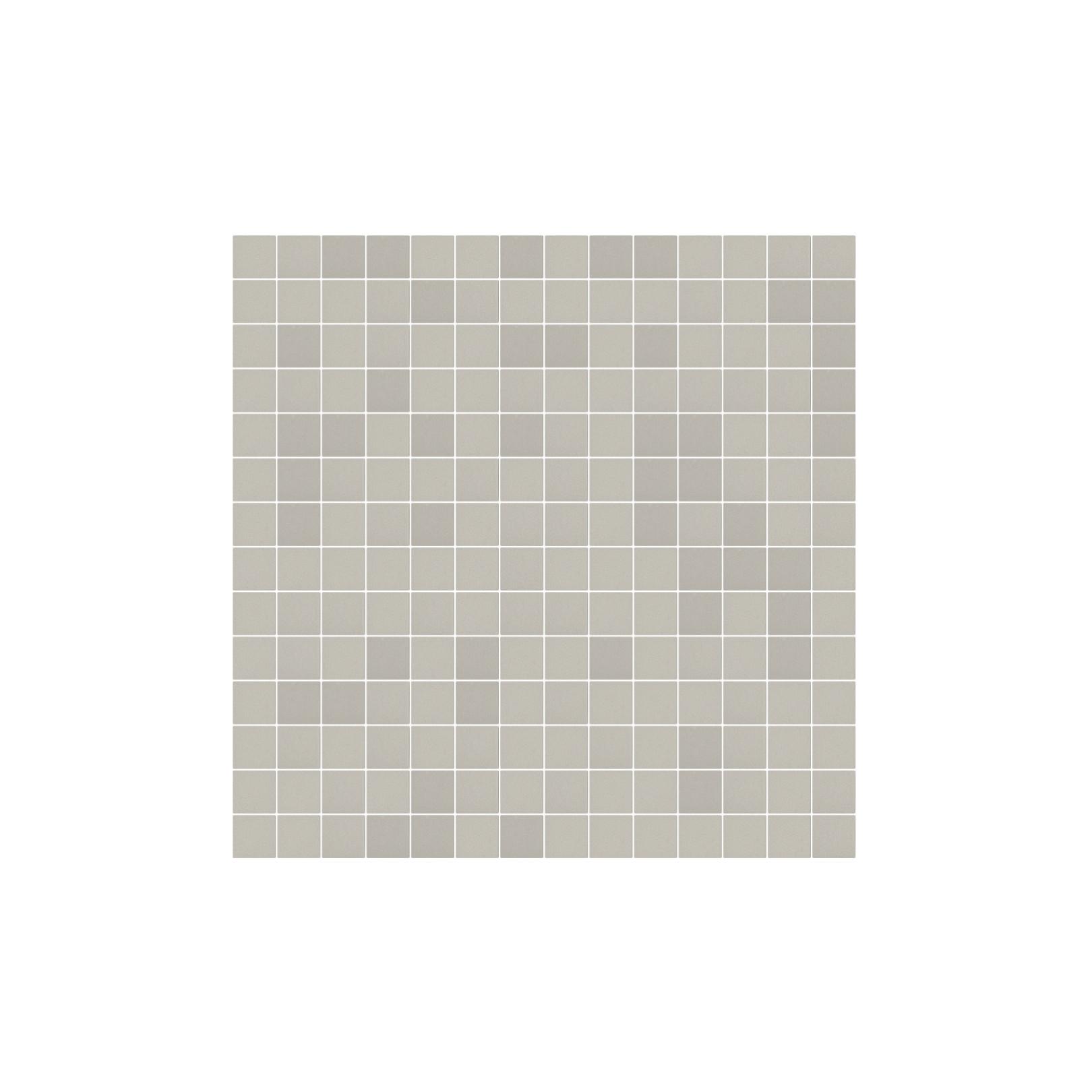 Mosaïque Stone carré 2,3x2,3cm taupe 570 sur trame nylon 33,3x33,3cm