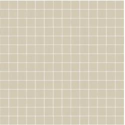 Mosaïque Stone carré 2,3x2,3cm beige argile 567 sur trame nylon 33,3x33,3cm