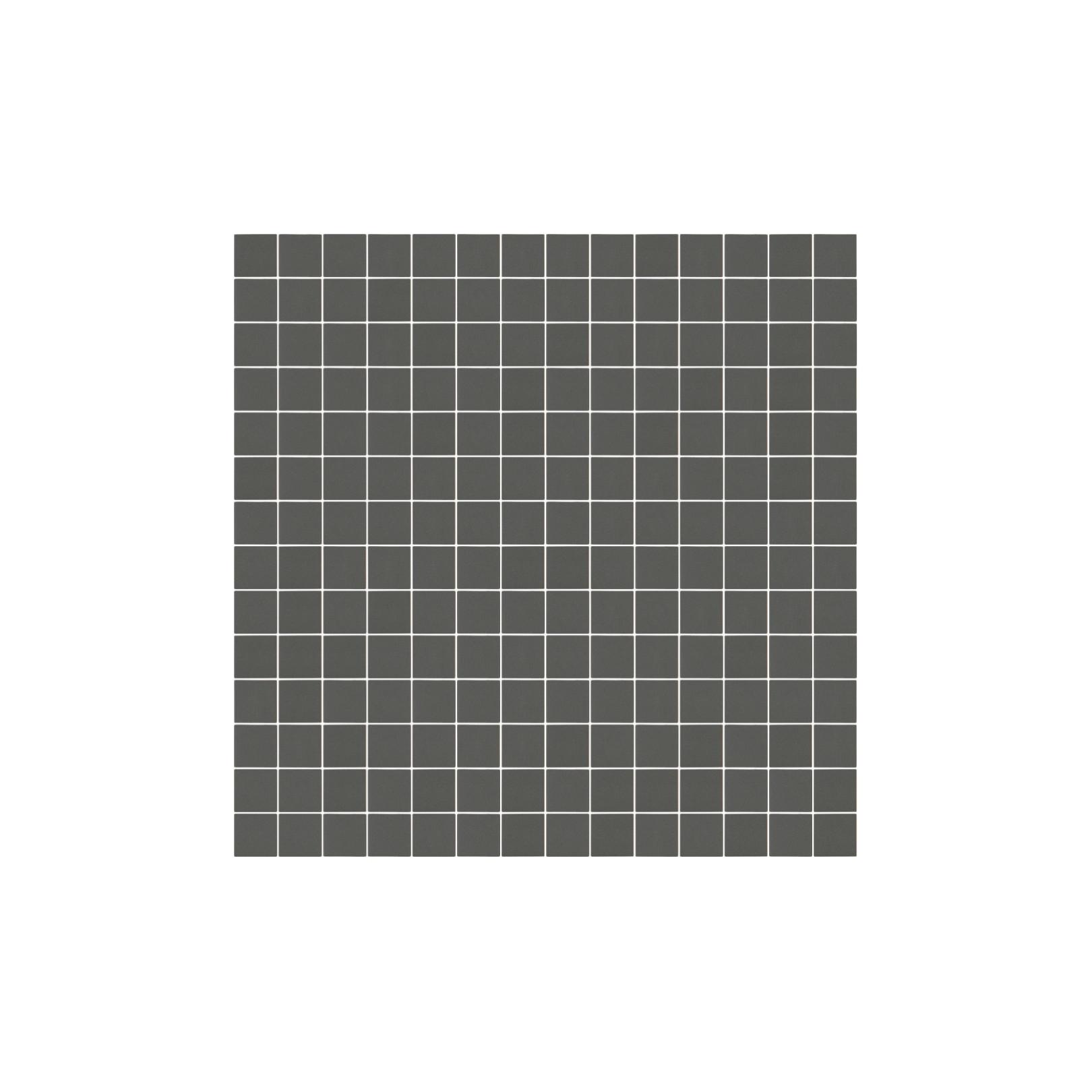 Mosaïque Stone carré 2,3x2,3cm gris moyen 564 sur trame nylon 33,3x33,3cm