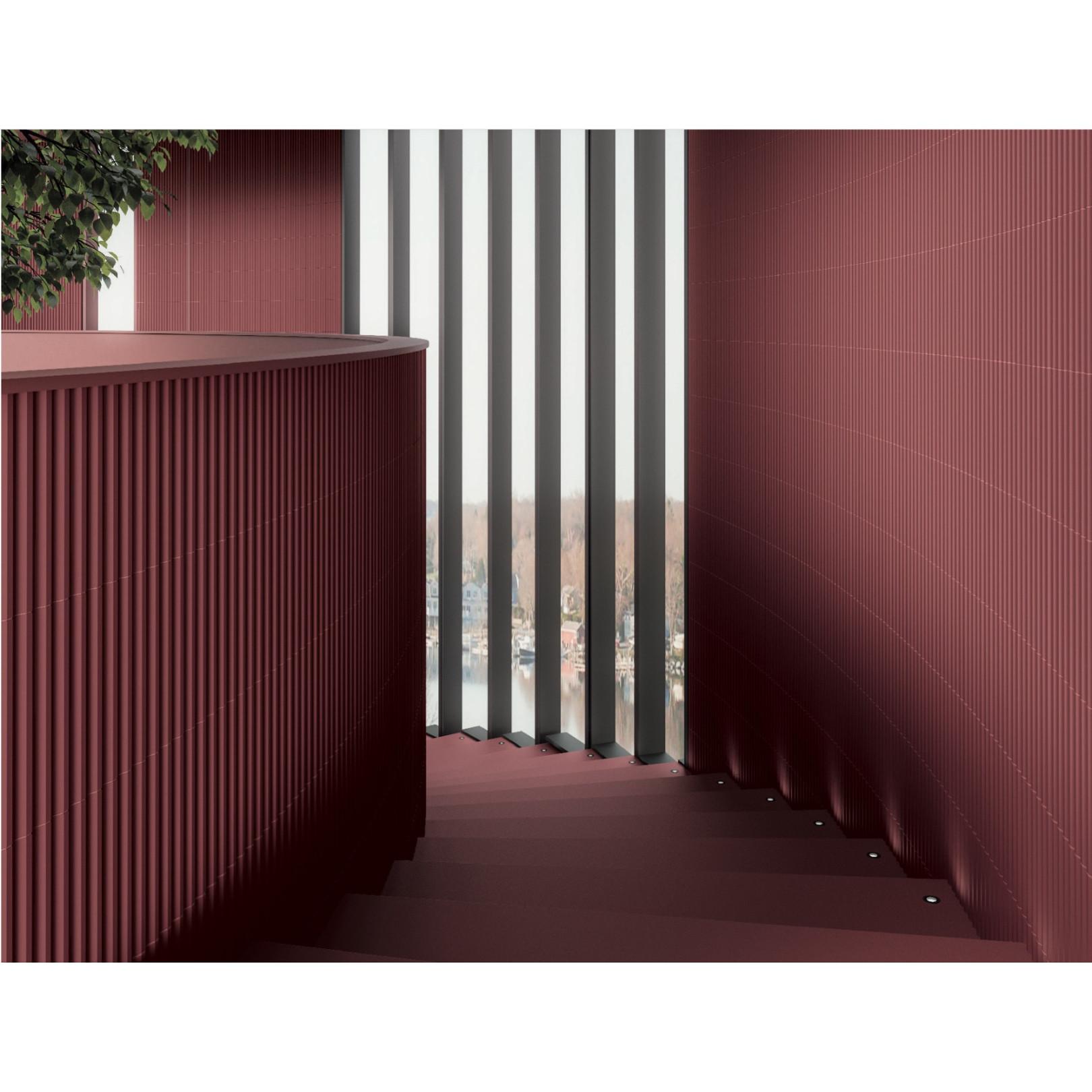 Carrelage mural faience effet graphique Stripes 30x7,5cm (9 couleurs, 3 finitions, 3 designs)