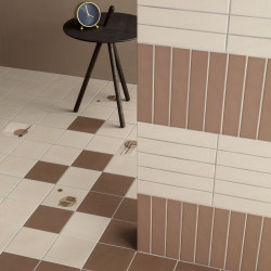 Carrelage grès cérame Genesi floor 15x15cm (7 couleurs, 4 décors)