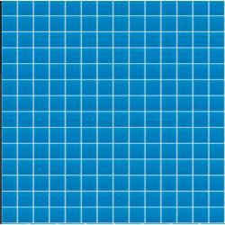 Mosaïque Unicolor piscine carré brillant ou antidérapant sur trame nylon 33,3x33,3cm