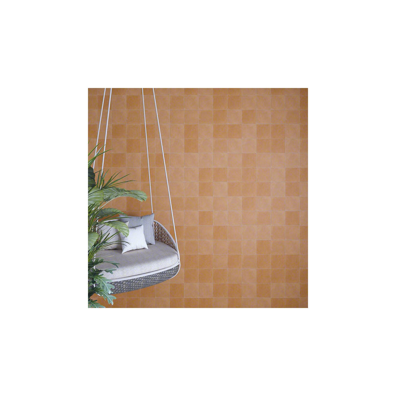 Carrelage grès cérame effet carreau ciment uni Sixties 15x15cm (8 couleurs)