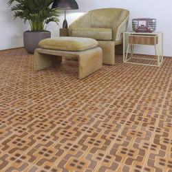 Carrelage grès cérame effet carreau ciment motif brun et chocolat POP Tile Cavern 15x15cm