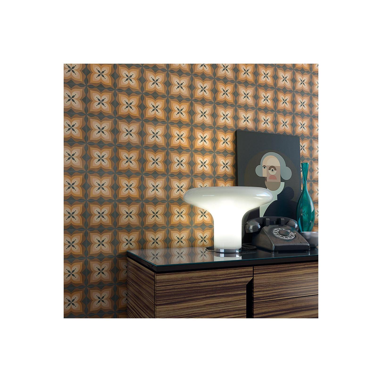 Carrelage grès cérame effet carreau ciment motif beige, brun et chocolat POP Tile Bethel 15x15cm