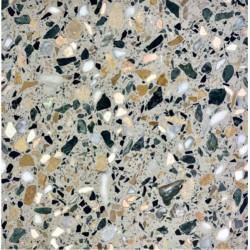Carreau Terrazzo fond noir inclusions multicolores Turron 60x60cm