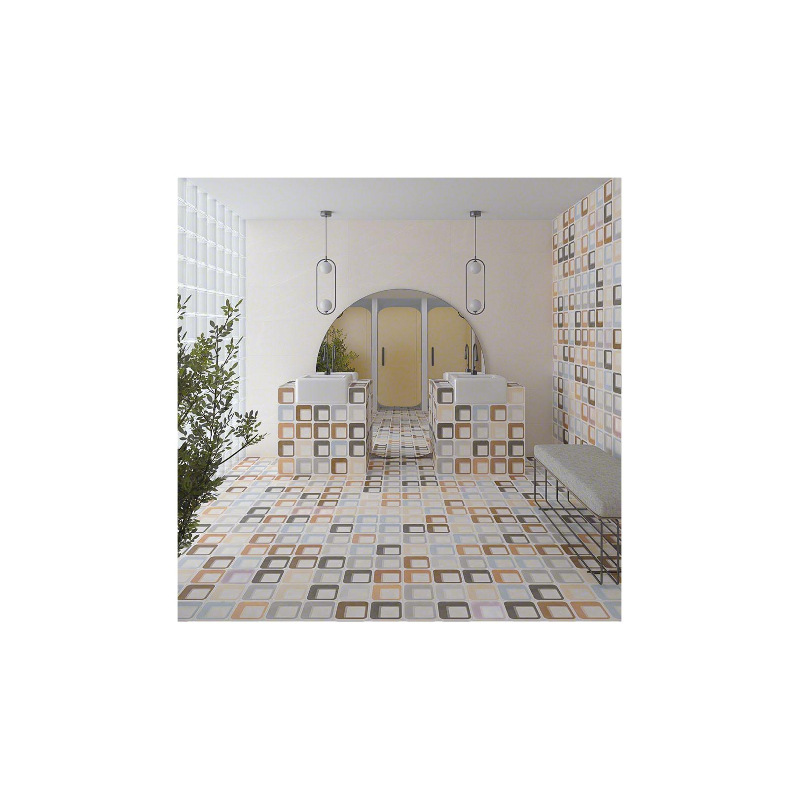 Carrelage grès cérame effet carreau ciment motif multicolore POP Tile Ferus 15x15cm