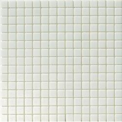 Mosaïque pâte de verre Tanticolori 2x2cm Blanc