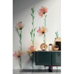 Carrelage grès cérame effet papier peint Wonderwalll Fleur