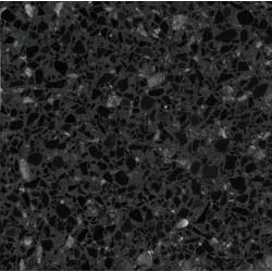 Carreau Terrazzo fond gris foncé inclusions noir et gris foncé Blawhi (6 formats)
