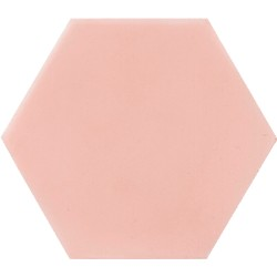 Ciment coloré Hexagone uni rose HU05