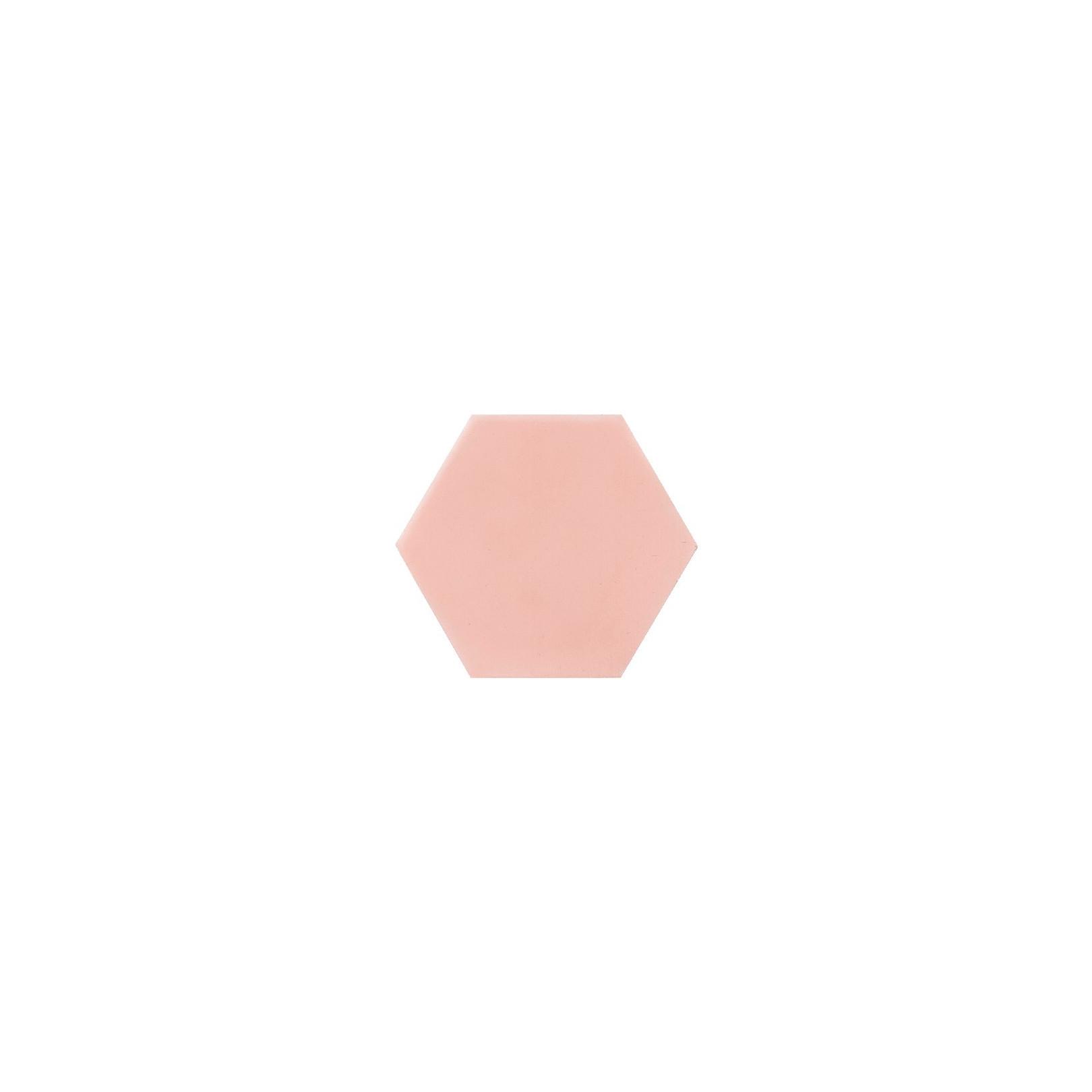 Ciment coloré Hexagone uni rose HU05